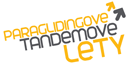Paraglidingov Tandemov Lety